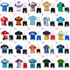 Mens Cycling Short Sleeve Jersey & Bib Shorts Sets Bicycle kits Cycling Jersey