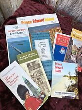 LOT OF 8 VINTAGE 1960'S ERA MAPS & GUIDES TO SITES IN CANADA