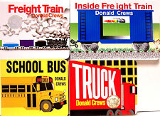 Freight Train,Inside Freight Train,School Bus,Truck by Donald Crews 4 Board Book