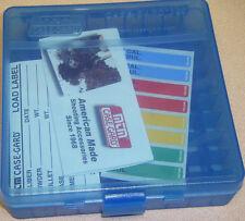 "Mtm Case Gardâ""¢ New Mtm Plastic Ammo Box 100 Round 44 Mag P100-44-24 Clear Blue"