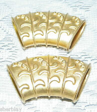 NAPKIN RING'S HOLDERS Metal Goldtone Set of  2
