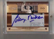 10/11 Panini Timeless Treasures George Mikan Souvenir Cuts Auto Autograph #/10