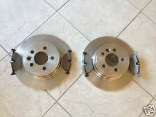 ROVER 75  MG ZT  99-- TWO REAR SOLID BRAKE DISCS AND A SET FOUR PADS