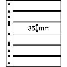 316995 Leuchtturm Hüllen OPTIMA 6S, 6er Einteilung, schwarz, 10er Packung