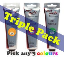 Mont Marte Professional Series Oil Paint 100ml (3 pce)