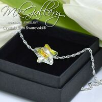925 Sterling Silver Necklace Crystal AB 14mm Star Crystals from Swarovski®
