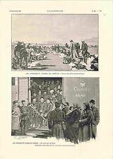 Armée Impériale Russie Soldats Uniformes Sibérie Cosaques/ la Chine GRAVURE 1900