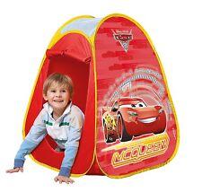 Kids Disney Cars Toddler Baby Pop Up Indoor Outdoor Children Play House Tent