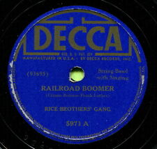 RICE BROTHER'S GANG (Railroad Boomer / Do You) CLASSIC COUNTRY 78 RPM RECORD