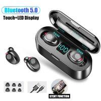F9 TWS Mini Earbuds Wireless Bluetooth 5.0  Headset Stereo Dual Earphones