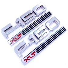 87 88 89 90 91 Ford F-150 XLT 2pc Fender Emblem Nameplate Badge Side F150 Logo