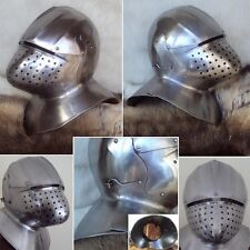 SALE PRICE Medieval Italian Helmet For Re-Enactment, LARP And Stage Use - 16G #