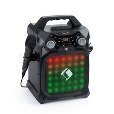 Karaoke Bluetooth Impianto Portatile Display Microfono Effetto Luci LED