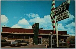 Rock Springs, Wyoming Postcard SANDS CAFÉ Restaurant I-80 Roadside 1960s Unused