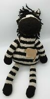 """Kenan Knitters Plush Zebra 18"""" Approx"""