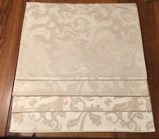 "Lot of 4 Elegant Holiday Cream Satin Scroll Placemats 19"" x 14"""