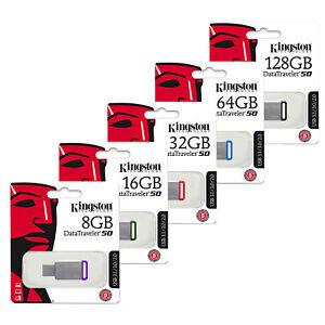 Kingston Data Traveler DT50 USB 3.0  Memory Sticks 8-16-32-64-128GB UK  SELLER