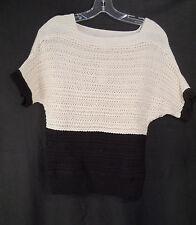 Ann Taylor Loft Color Block Textured Weave Drop Shoulder Sweater S NWT