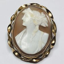 Brooch / Pin / Pendant c1890 Marvelous Vintage Large Size Carved Cameo Hera
