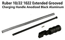 Aluminum Ruger 1022 10-22 Extended Grooved Round Charging Handle Black Anodized