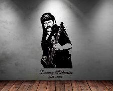 Groß Lemmy Motorhead Rockgitarre Legend Gratis Wischer Vinyl Sticker Aufkleber