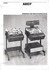 Operating and Service Instructions for Studer A807