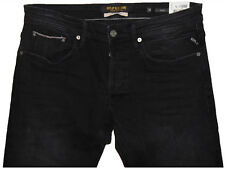 Replay RONAS Selvedge Slim Fit W32 L32  RRP £170  Mens Black Stretch Denim Jeans
