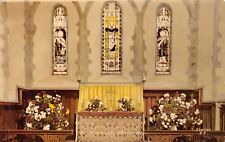 Amberley  West Sussex,  St Michaels ,  Altar  Stained Glass  Flowers     RK755