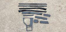 FULL SET! BMW M5 530I 540I E39 - Interior Dash Door Panel Console Trim (BLACK)