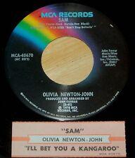 Olivia Newton-John 45 Sam / I'll Bet You A Kangaroo  w/ts