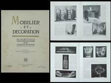 MOBILIER ET DECORATION AOUT 1928 LALIQUE, JOUBERT ET PETIT, DUNAND, BARILLET