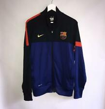 RARE BARCELONA FC ORIGINAL NIKE FOOTBALL TRAINING JACKET COAT FULL ZIP / SIZE M