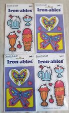 Rare! SCRATCH & SNIFF IRON-ABLES Set of 4 - Hypo-Allergenic - VINTAGE, Mark 1
