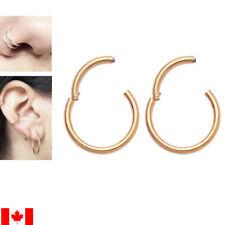 Pair Nose Hoop Ring Septum Clip Stainless Steel earring body piercing  jewelry