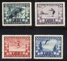 AUSTRIA #B106-9 Mint NH - 1933 Ski Federation Set