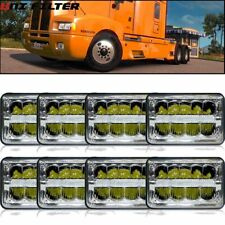 8pcs Peterbilt 378 357 379 LED Headlights Bulb Sealed Beam For Kenworth T800