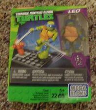 Mega Bloks Teenange Mutant Ninja Turtles Leo Katana Swat 22 pc Building Playset
