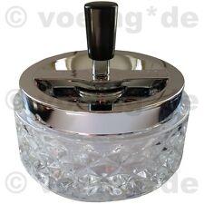 Design-Aschenbecher aus Glas mit Drehfunktion Sturmaschenbecher 12x11 cm hell