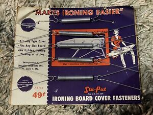 vintage Sta -Put ironing board cover fasteners