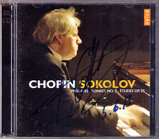 Grigory SOKOLOV Signiert CHOPIN 24 Preludes 12 Etude Op.25 Piano Sonata No.2 2CD