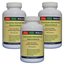 EZorb Calcium Capsules (3) 92% Absorption for Bone Spurs, Osteoporosis, Save 7%