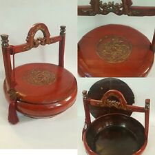 Fine Antique c1850 Chinese Shanxi Wedding/Gift Basket: Certificate of Antiquity