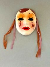 Colorful Ceramic Mask,  Wall Hanging