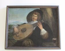 MUSEUM QUALITY PAINTING OLD MASTER PORTRAIT MUSICIAN LUTE PLAYER 17TH CENTURY