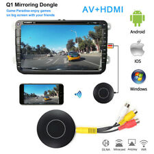 Car WIFI Wireless Display Dongle Miracast Airplay Screen Mirroring HDMI AV RCA