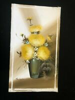 Vintage Original Oil Painting  -  Heavy / Thick  Oil  -  Bold Floral  12 x 24