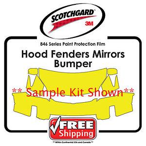 Kits For Audi - 3M 846 Scotchgard Paint Protection Film - Hood Fender Bumper Mir