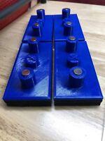 SET OF 4 BLUE Tesla Model X Jack Pad Adapter Lift Pad Murphy's Law Jack Pads