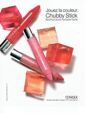 Publicité Advertising 127  2012   rouges à lèvres maquillage Clinique