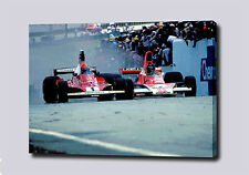 "James Hunt Niki Lauda Rush toile 30 ""x20"" Imprimé Poster Photo Pic F1 Mur Art"